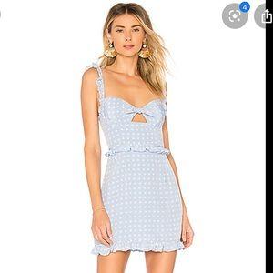 FLL sweetheart mini dress periwinkle
